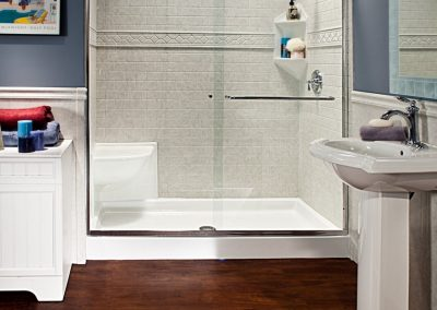 Clear Glass Shower Sliding Door