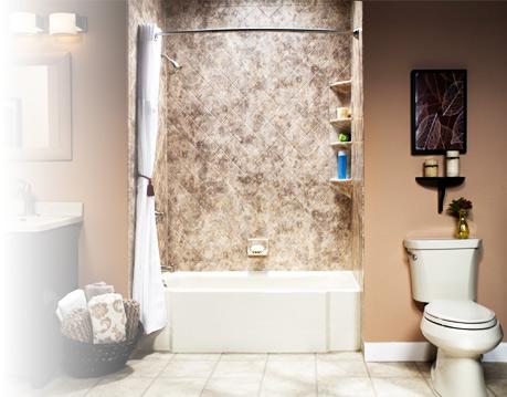 Custom bathroom wall surrounds