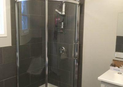 Ceramic Tile Corner Shower