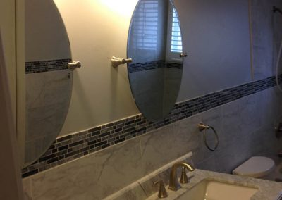 Ceramic Tile Bathroom Wall and Sink