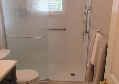 Textured Glass Sliding Door