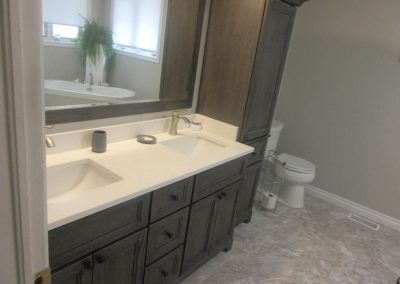 Double Sink Dark Brown Vanity