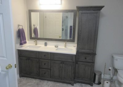 Double Sink Dark Brown Vanity3