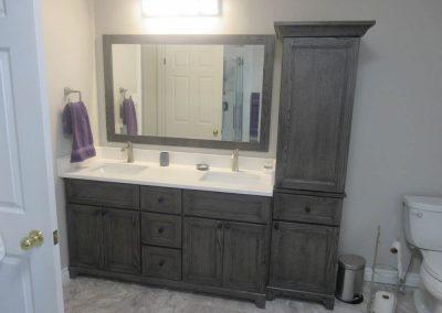Double Sink Dark Brown Vanity3