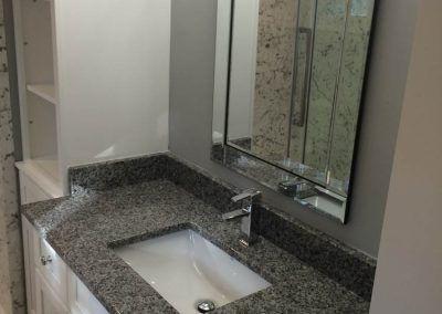 Gray and White Vanity