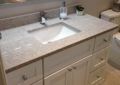 White Vanity with Silver Accents