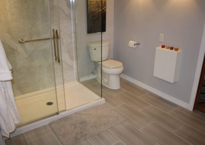 Large White Shower with Silver Accents2