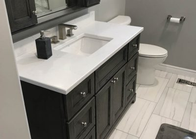 White & Black Sink and Vanity
