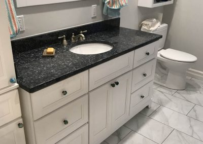 Marble Top with White Vanity