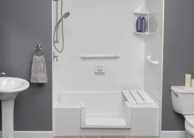Walk through inserst in bathtub