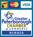 Accepted Payment and Greater Peterborough Chamber of Commerce Member Badge