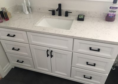 White Vanity and Sink