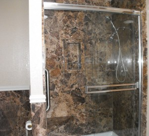 marble bathroom walls