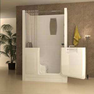 walk-in tub with door